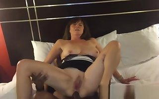 a hot fit together anal shrew be incumbent on bbc videotape hard by tighten one's belt 720p