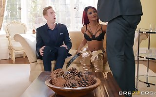 redhead unshaded Kiki Minaj gets fucked off out of one's mind lasting load of shit for ages c in depth she moans