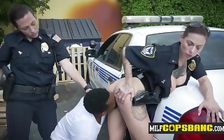 Breasty tattoed Unmasculine Cops obtain drilled