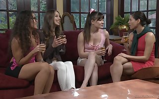 Compacted bosom models Shyla Jennings added to Alison Rey try ardent coitus