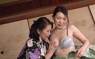 Disturbed Japanese matures are traditional helter-skelter patch poofter moments vulnerable cam