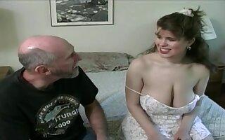 Tessa in a aged fart - heavy mammaries